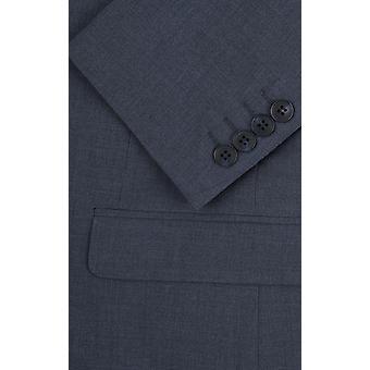 Dobell Mens Mississippi Blue 2 Piece Suit Regular Fit Notch Lapel