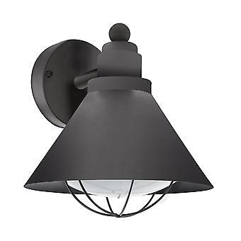 Eglo Barrosela galvanizado acero luz Exterior en negro