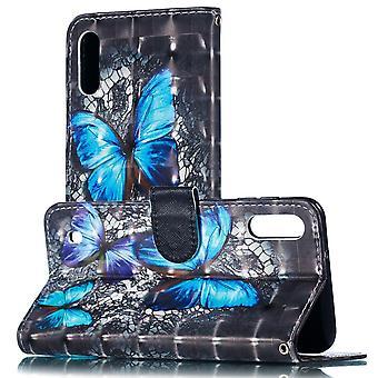 Für Samsung Galaxy A40 5.9 Zoll Kunstleder Tasche Wallet Motiv 32 Schutz Hülle Case Cover Etui Neu