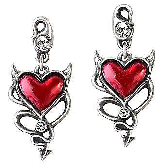 Alchemy Gothic Devil Heart Earrings