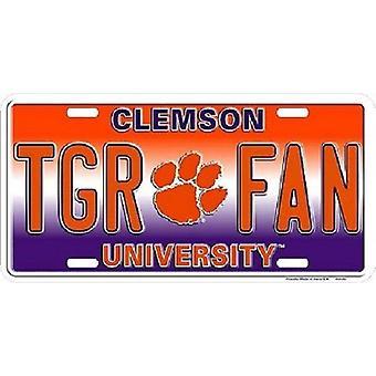 """Clemson Tigers NCAA """"TGR Fan"""" License Plate"""