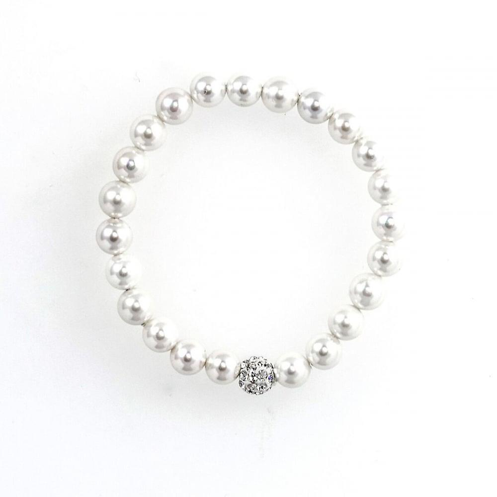 Eternity Kids Pearl And Crystal Ball Bracelet