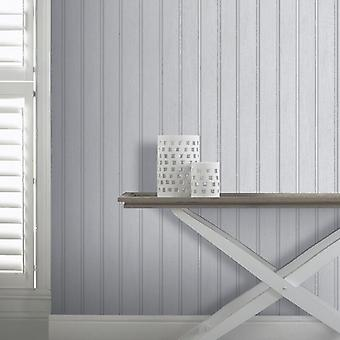 Wood Effect Wallpaper Grains Board Plank Realistic Tongue & Groove Grey Arthouse