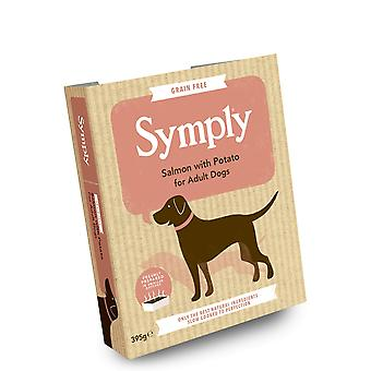 Symply saumon & pomme de terre pour adulte chiens plateaux humides 395g - Single Pack