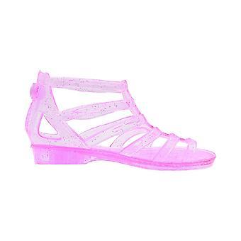 Sara Z Toddler Girls Translucent Glitter Ankle Gladiator Jelly Sandals