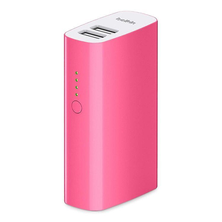 Belkin Power Pack 4000 mAh Power Bank 2 USB Ports Pink