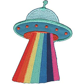 Patch - Aliens - UFO with Rainbow Ray New Gifts p-4640