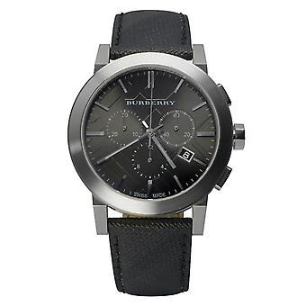 Burberry Bu9362 Stainless Steel Calfskin Sapphire Crystal Men's Watch