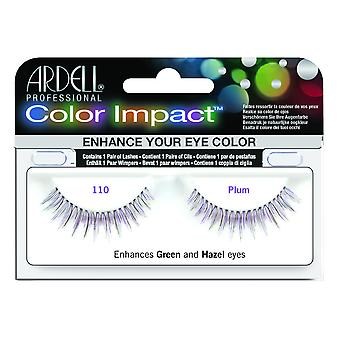 Ardell Color Impact Demi Wispies Plum Easy To Apply Full False Eye Lashes