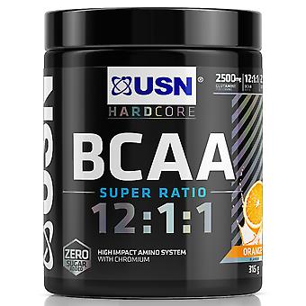 USN Hardcore Series BCAA Super Ratio Protein, Zéro Sucre