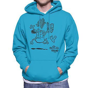 Grimmy Clothes Off Men's Hooded Sweatshirt