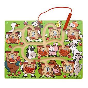 Melissa & Doug baguette magnétique numéro Maze - Puzzle en bois