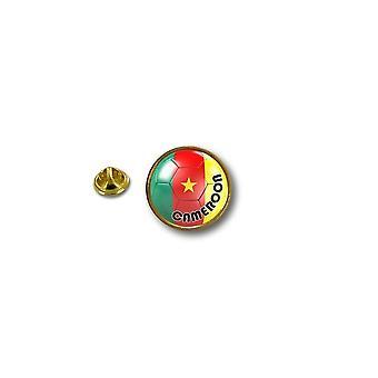 Pins Pin Badge Pin's Metal Biker Motard Drapeau Ballon Foot Cameroun