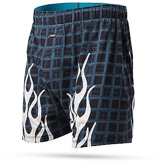 Stance Burnt Plaid Underwear in Black