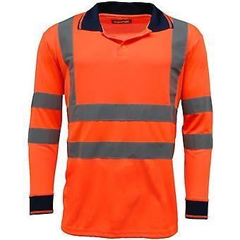 Standsafe HV005 Hi Vis Langærmet Polo skjorte