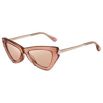Jimmy Choo Donna/S W66/2S Pink Glitter/Pink-Silver Mirror Sunglasses