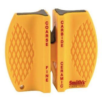 Smith's Abrasives 2-Step Knife Sharpener Carbide Blades + Ceramic Rods NEW #CCKS