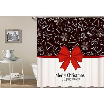 Christmas Shower Ribbon Shower Curtain