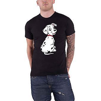 Disney T Shirt 101 Dalmationen Dalmation Pose Logo neue offizielle Herren schwarz