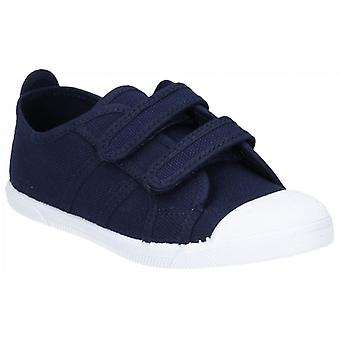 Flossy Sasha Junior canvas Touch Fasten sneakers Navy