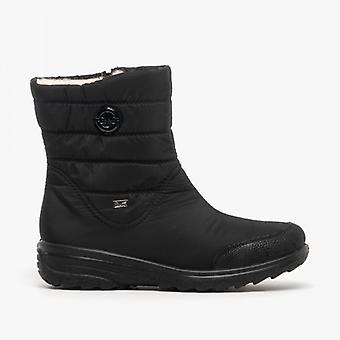 ريكر Z7082-00 السيدات تناسب واسعة أحذية الكاحل الأسود