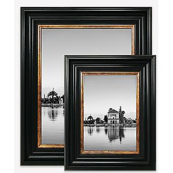 Vintage Black Gold Style Photo Picture Frame Poster Wide Large Wall Mounted UK