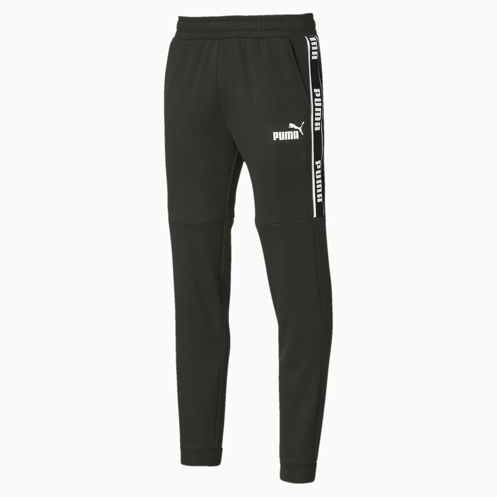 Puma Amplified Fleece Mens Sweat Track Pant Trouser Khaki Green