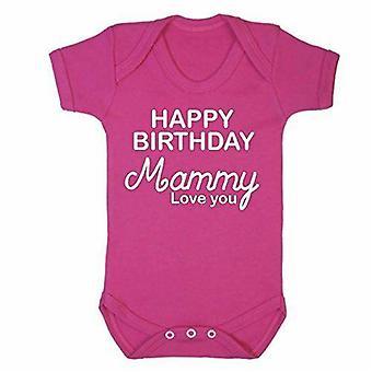 Joyeux anniversaire maman rose manches courtes babygrow