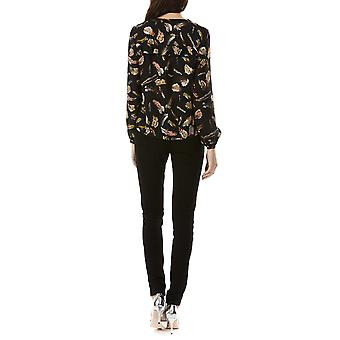 Sugarhill Boutique Women's Aurora Feather Long Sleeved Blouse