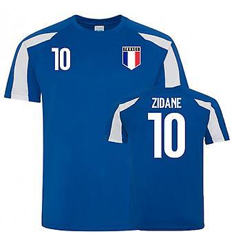 Frankreich Sport Trainingstrikot (Zidane 10)
