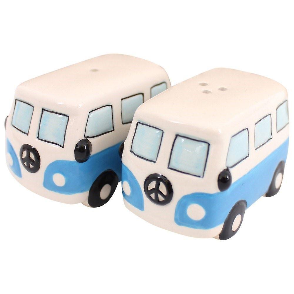 Giftworks Campervan salt & pepper set/ cruet set - Blue