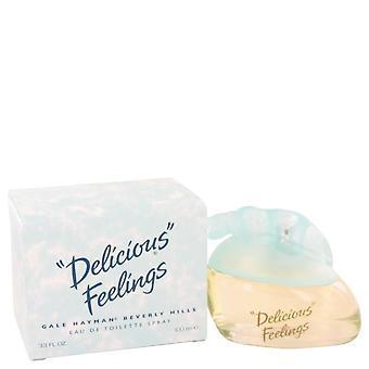 Delicious feelings eau de toilette spray (new packaging) by gale hayman   403621 100 ml