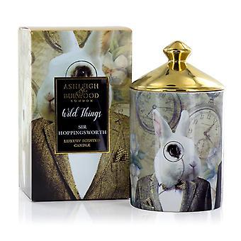 Ashleigh & Burwood Wild Things Luksus Duftende Candle Sir Hoppingsworth - Cognac &; Læder