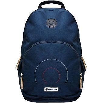 Lambretta Unisex Rucksack Zip Closure Casual School College Backpack Bag - Navy