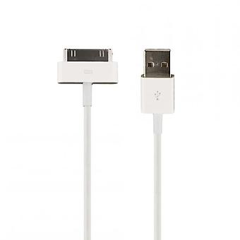 Original bulk Apple MA591G/C 30pin iPhone charger and data cable 100 cm, 4 / 4 S iPod iPad
