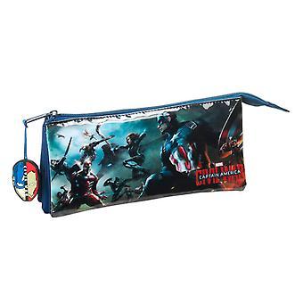 Marvel Captain America pour enfants/Kids officiel guerre civile Triple Pencil Case