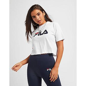 Nuovo Fila Women's Core Logo Crop Short Sleeve T-Shirt White