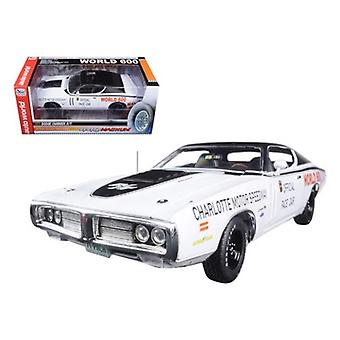 1971 Dodge Charger White Charlotte Motor Speedway World 600 Pace Car Limited Edition to 1002pc 1/18 Diecast Model Car by Autoworld