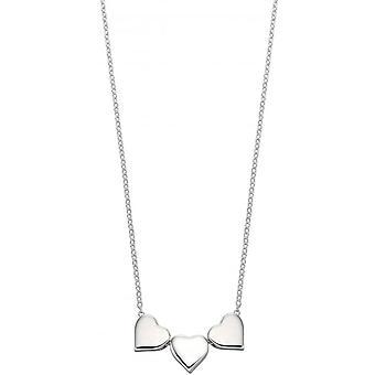 Начало тройной сердца ожерелье - серебро