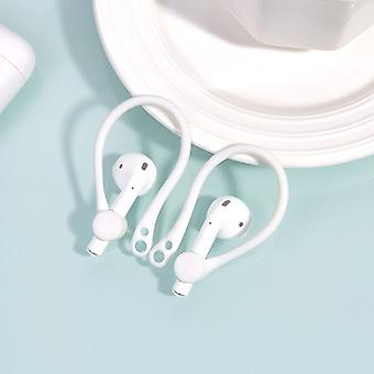 For Apple AirPods 1/2 White Anti-lost Headphones TPU Plastic Hook