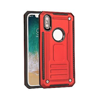 For iPhone XR Case, Armour Strong Shockproof Thin Tough Protective Cover, Red