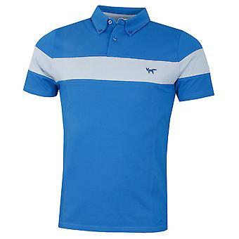 Wolsey Mens Fabric Mix Chest Stripe Lichtgewicht Golf Polo Shirt