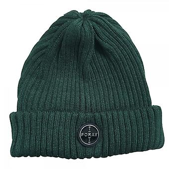 Foray Khaki Green Woolmix Beanie Hat With Turn-up