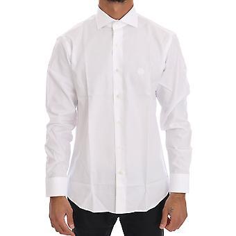 Cavalli White Striped Slim Fit Shirt