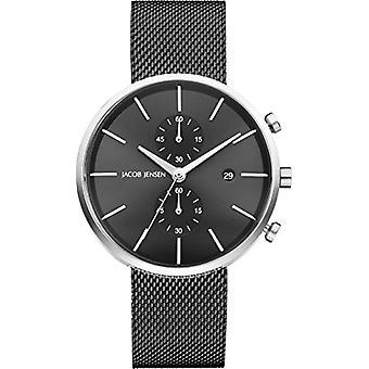JACOB JENSEN Chronograph Unisex Quartz Watch with stainless steel band 626