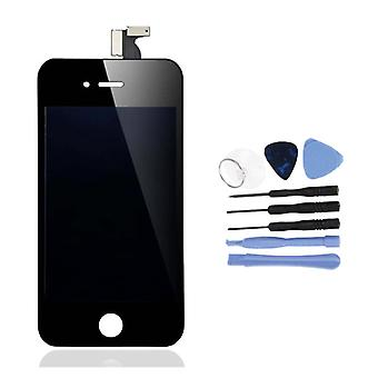 الاشياء المعتمدة® iPhone 4S الشاشة (شاشة تعمل باللمس + LCD + أجزاء) AA + الجودة - أسود + أدوات