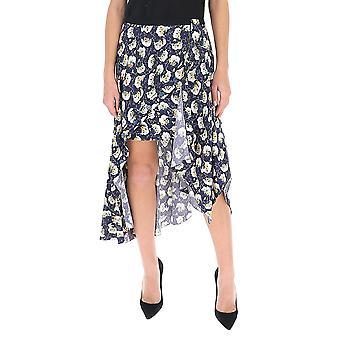 Chloé Chc20sju19336476 Women's Blue Silk Skirt