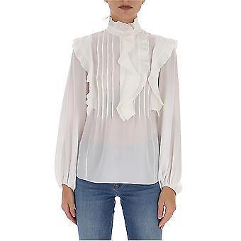 Chloé Chc20sht09004107 Women's White Silk Blouse