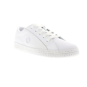Airwalk The One  Mens White Leather Lace Up Athletic Skate Shoes