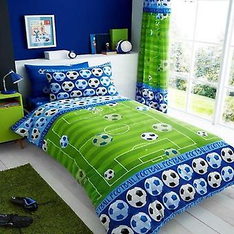 Football Goal Childrens Single Duvet Cover Blue
